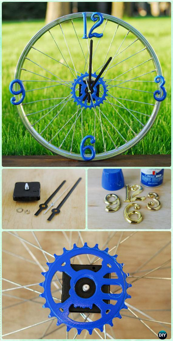 DIY Bicycle Rim Clock Instruction - DIY Ways to Recycle Bike Rims