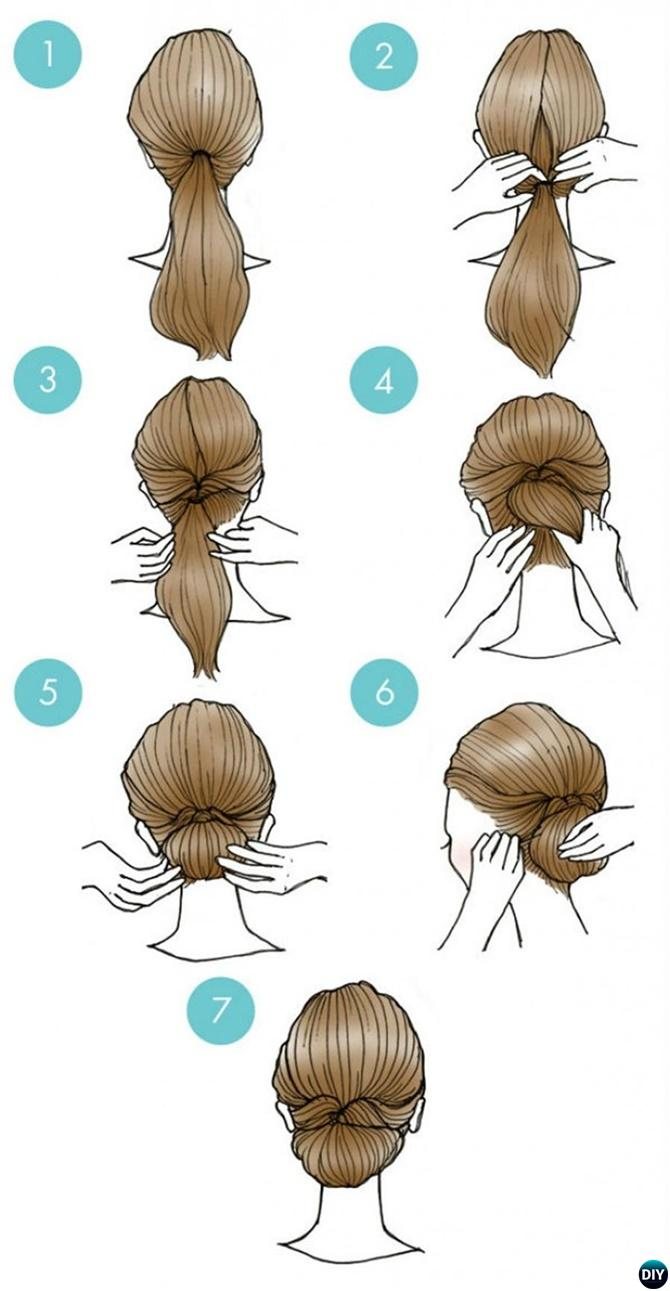 Easy Bun Hairstyle-20 Easy Busy Morning Hairstyles For Short Mid ...