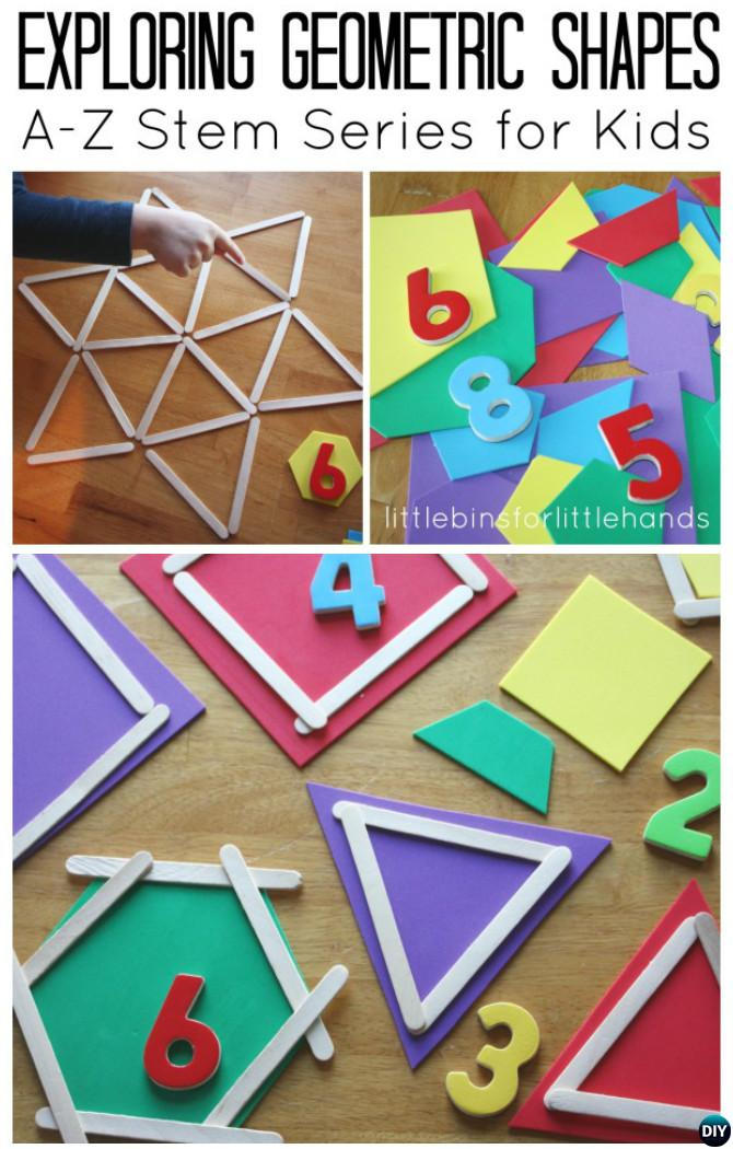 Geometric Shapes Activity Math Idea-Easy Fun Kids Math Learning Tricks Games