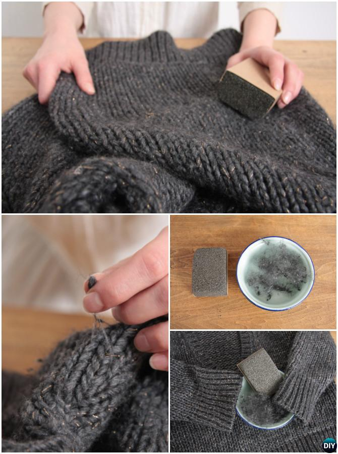 Get rid of lint balls off Sweater-20 Lady Girl Fashion Hacks