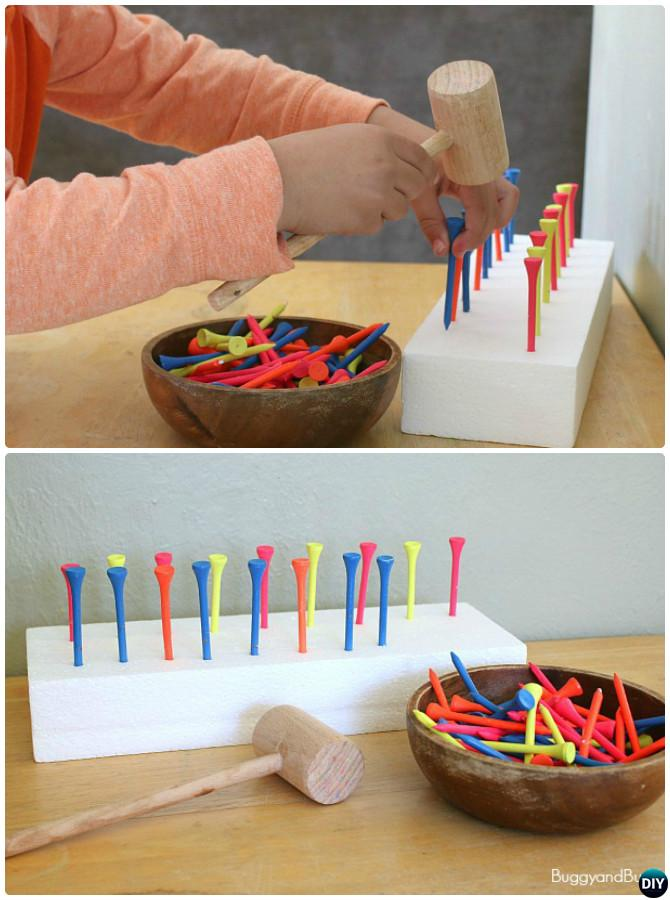 Golf Tee Math Pattern Activity-Easy Fun Kids Math Learning Tricks Games