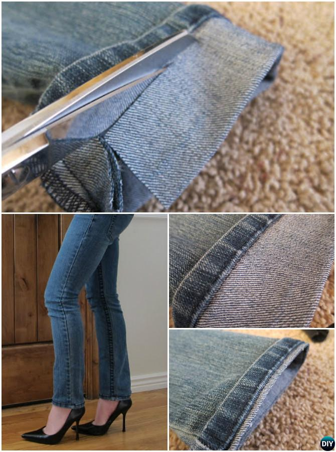 Hem Jean Short By Keeping Original Hem-20 Lady Girl Fashion Hacks