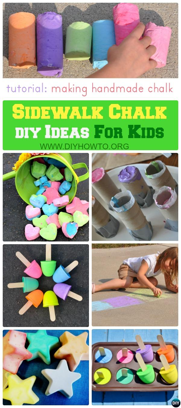 Homemade Sidewalk Chalk Paint for Kids Outdoor Entertainment, with only 3 ingredients mixed and dry overnight.