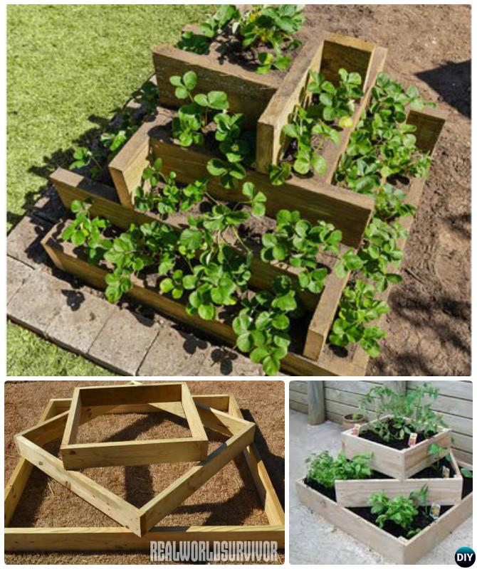 How to Build Tiered Box Planter Tower-20 DIY Raised Garden Bed Ideas ...
