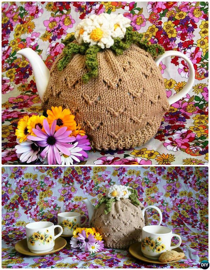 Knit Camomile Lawn Tea Cosy Free Pattern-20 Crochet Knit Tea Cozy Free Patterns