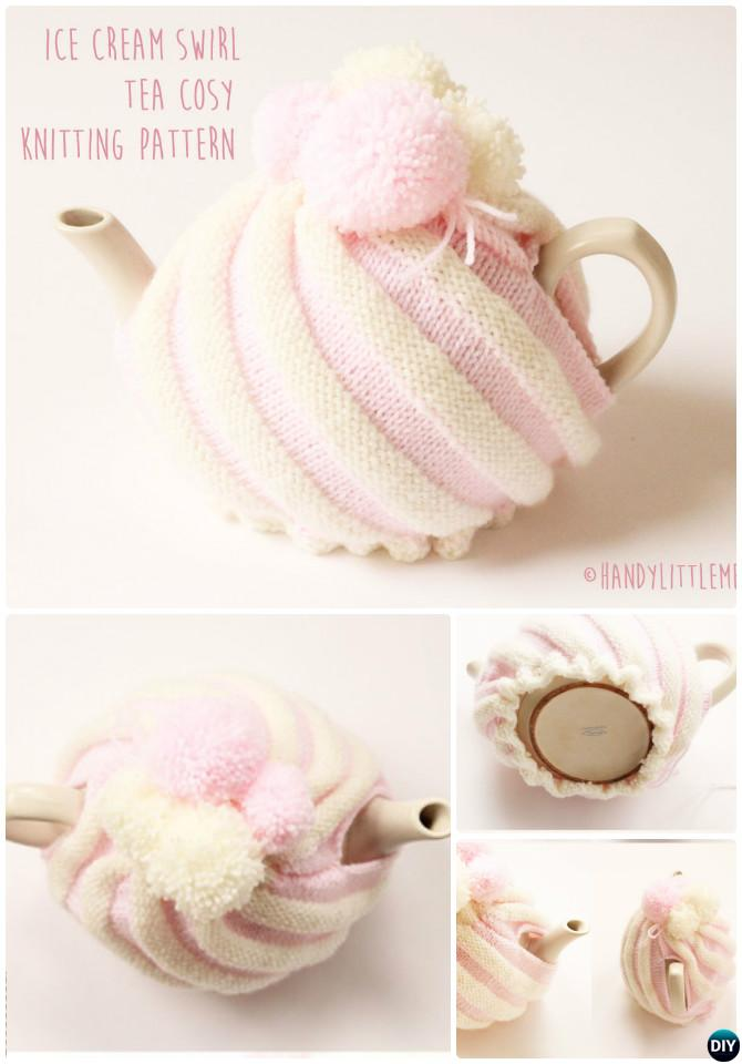 Knit Ice Cream Swirl Tea Cozy Free Pattern-20 Crochet Knit Tea Cozy Free Patterns