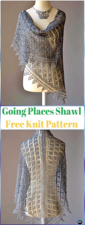 Knit Going Places Shawl Free Pattern - Knit Scarf & Wrap Shawl Patterns