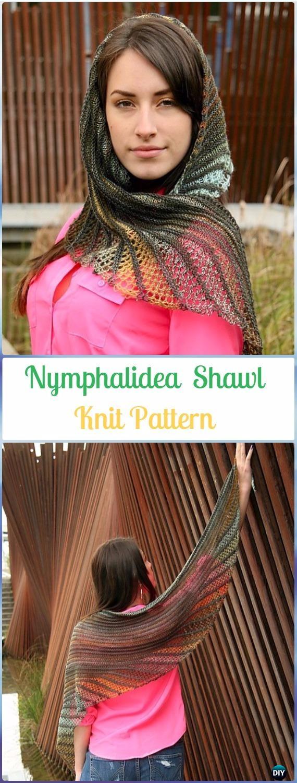 KnitNymphalidea Shawl Pattern - Knit Scarf & Wrap Shawl Patterns