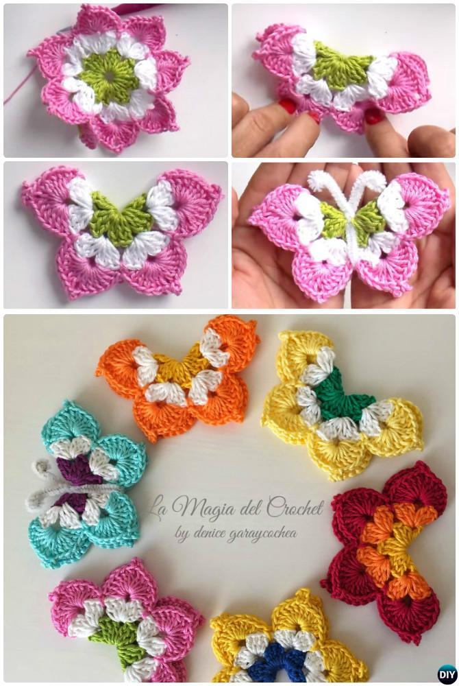 La Magia Crochet Butterfly Free Pattern
