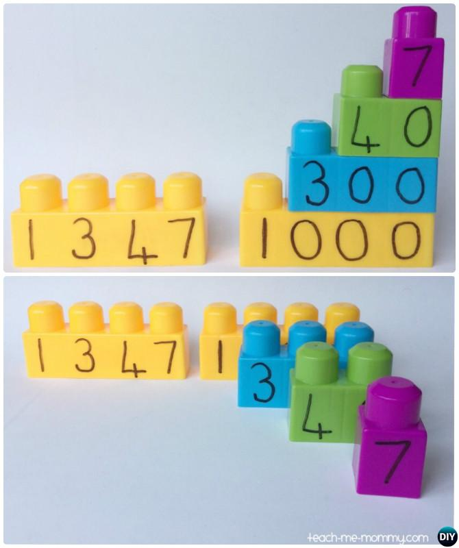Learn Place Value with Building Blocks-Easy Fun Kids Math Learning Tricks Games