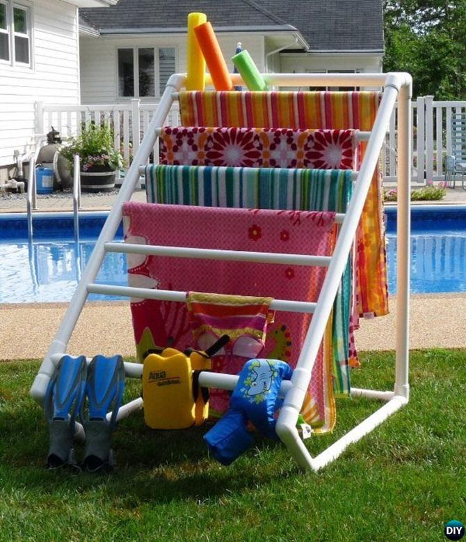 PVC Pipe Drying Rack-20 PVC Home Organization and Storage Projects
