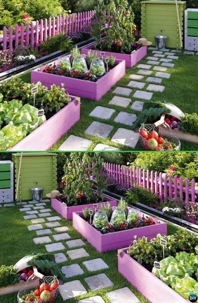 Paint Pallet Garden Edging