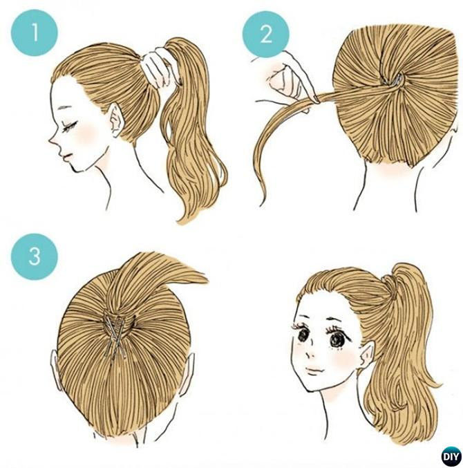 Perfect Ponytail Hairstyle-20 Easy Busy Morning Hairstyles For Short Mid Long-Length Hairs