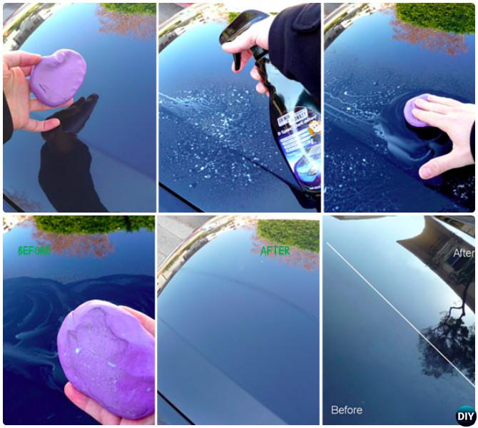 Pick Up Remain Grime After Rinse with Clay-20 Car Cleaning Detailing Tips and Tricks