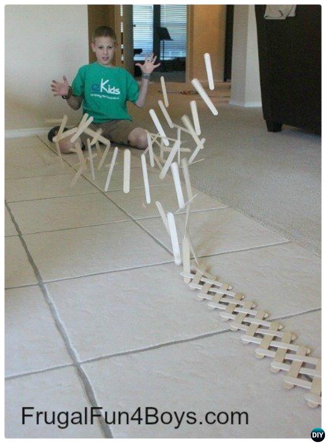 Popsicle Chain Reaction-20 Indoor Kids Activities