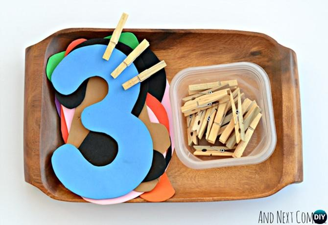 Preschool Activity Number Counting Tray-Easy Fun Kids Math Learning Tricks Games