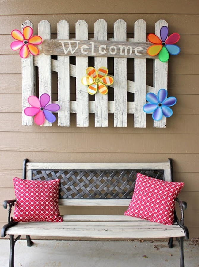 Rustic Front Door Seating-20 DIY Porch Decorating Ideas Projects
