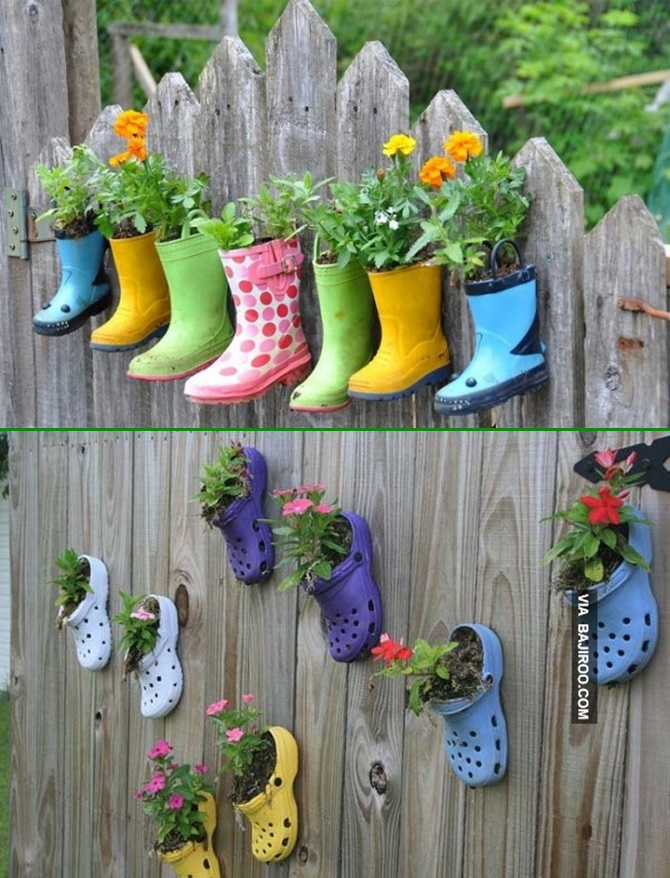 Backyard garden fence decoration makeover diy ideas for Garden fence decorations