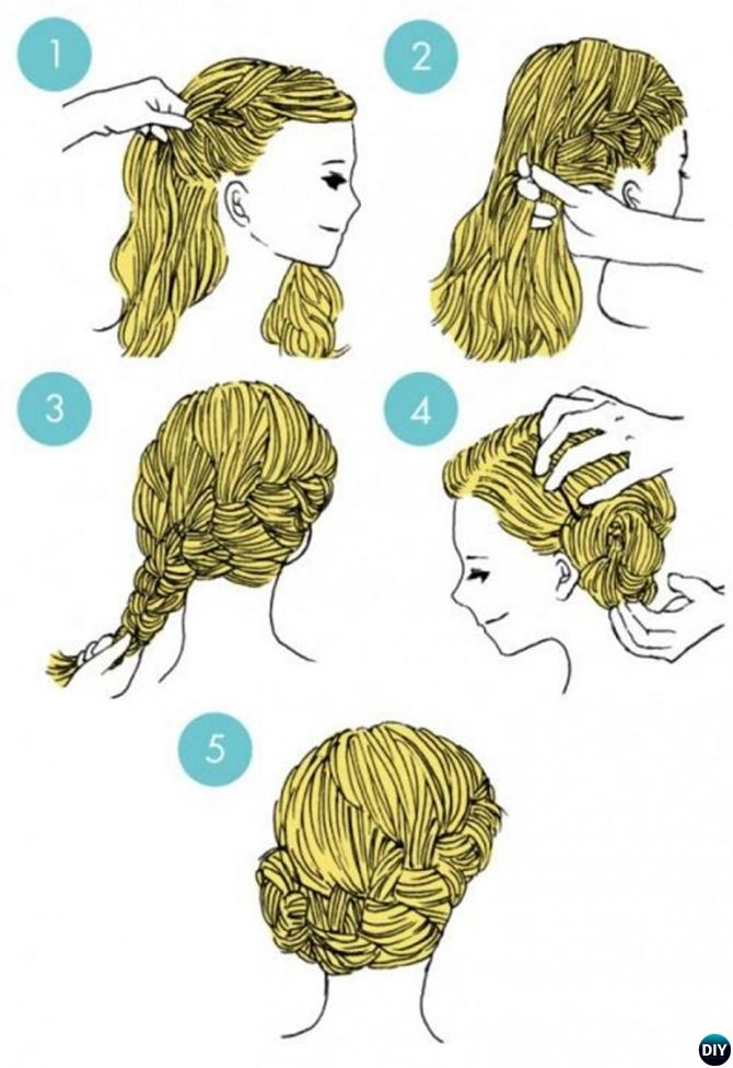 Side Braid Crown Hairstyle-20 Easy Busy Morning Hairstyles For Short Mid Long-Length Hairs