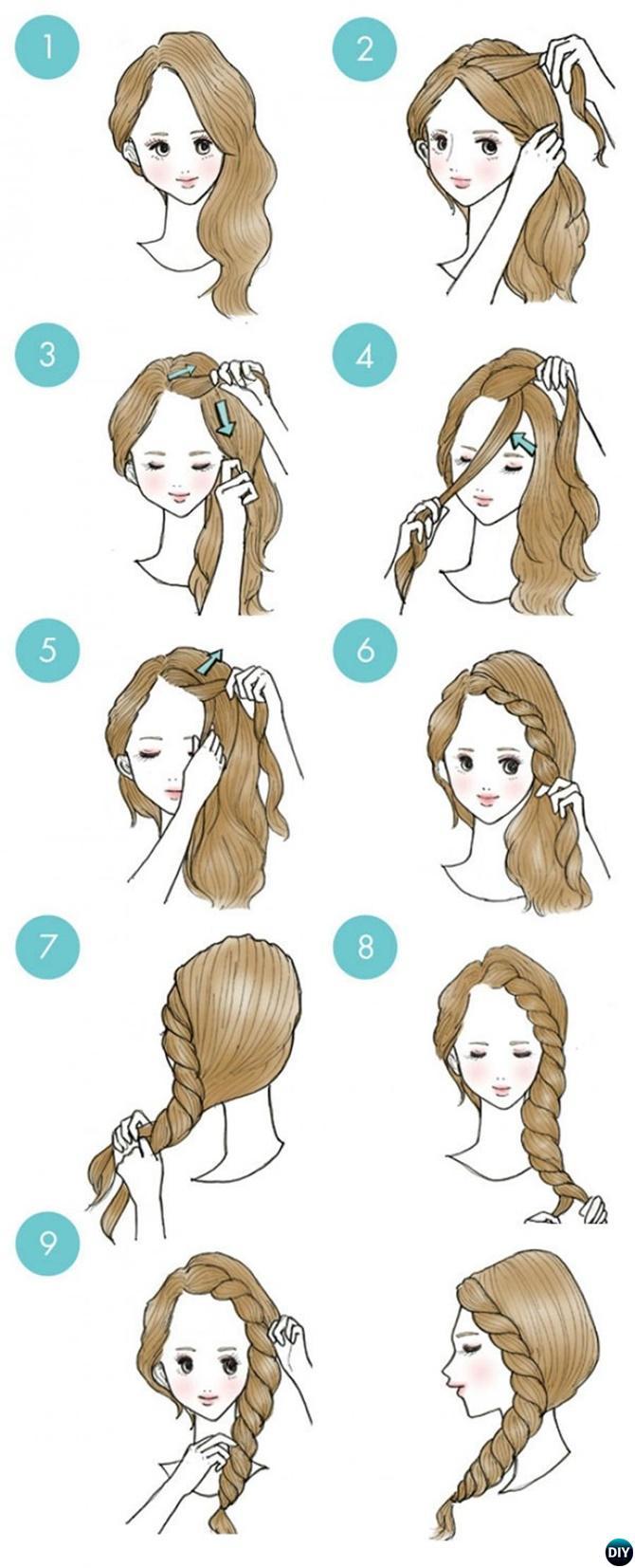 Простые прически на короткие волосы схемы