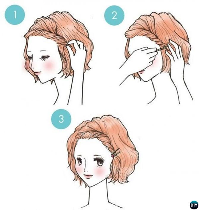 Side Twist Hairstyle Short Hair-20 Easy Busy Morning Hairstyles For Short Mid Long-Length Hairs