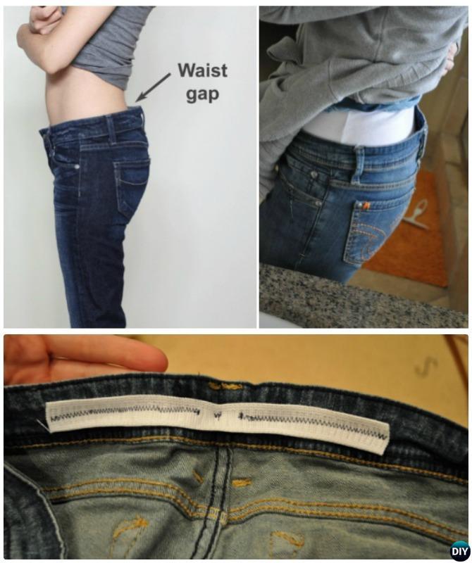 Take In Jean Waist Gap-20 Lady Girl Fashion Hacks