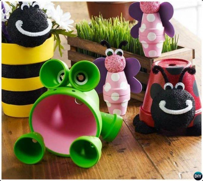 Terracotta Clay Pot Critter DIY Clay Pot Garden Craft Projects