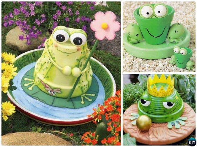 Diy clay pot garden craft projects picture instructions for Decoration jardin grenouille
