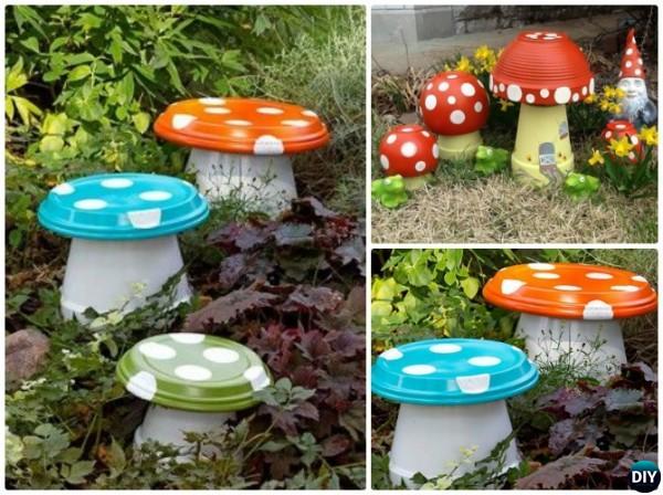 Terracotta Clay Pot Mushroom DIY Clay Pot Garden Craft Projects