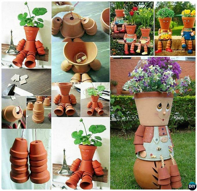 Terracotta Clay Pot People Planter DIY Clay Pot Garden Craft Projects