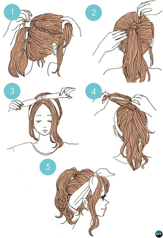Three Part Ponytail Hairstyle-20 Easy Busy Morning Hairstyles For Short Mid Long-Length Hairs