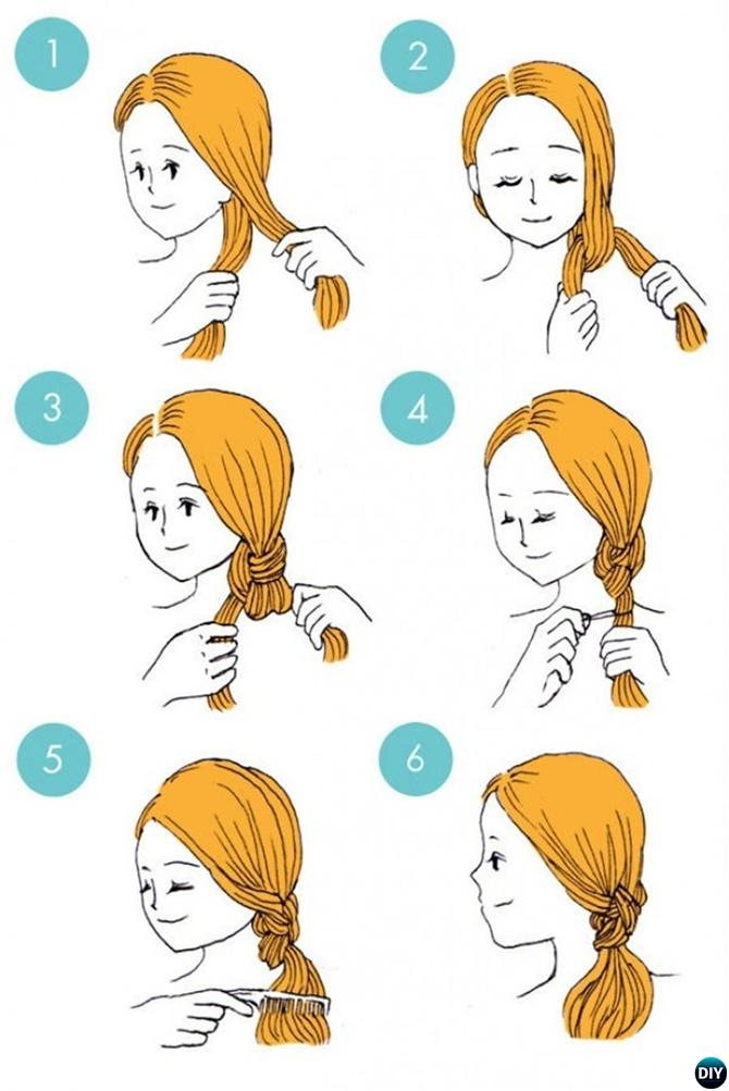 Easy Knot Ponytail Hairstyle-20 Easy Busy Morning Hairstyles For Short Mid Long-Length Hairs