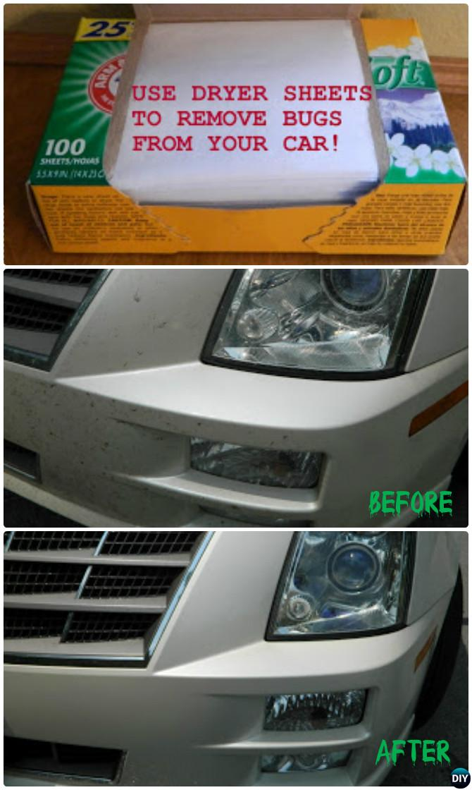 how to remove dead bugs from your car
