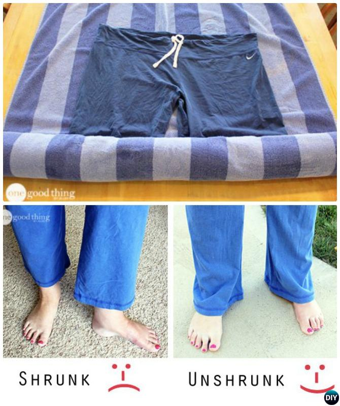 Trick to Unshrink your pants-20 Lady Girl Fashion Hacks.jpg