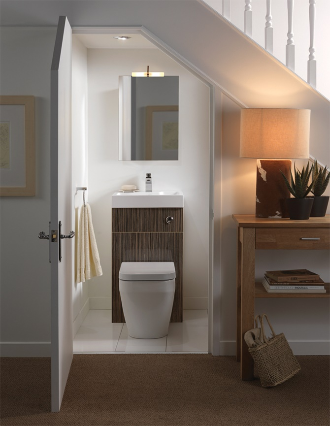Under the Stairs Bathroom -20 Build-In Ideas to Use Space Under Stairs
