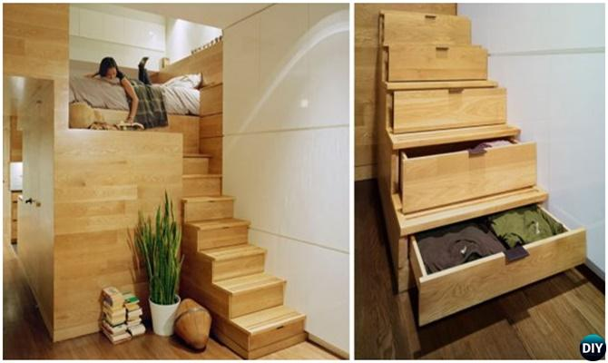 Under the Stairs Drawers-20 Build-In Ideas to Use Space Under Stairs