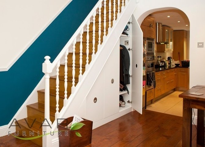 Under the Stairs Hidden Closet-20 Build-In Ideas to Use Space Under Stairs