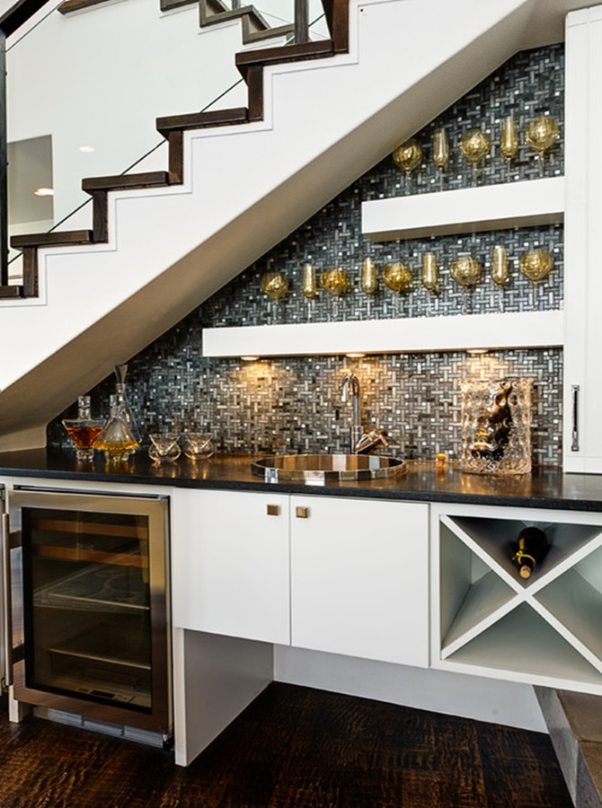Under the Stairs Kitchen -20 Build-In Ideas to Use Space Under Stairs