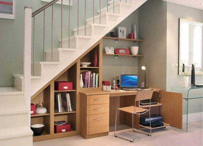 Under the Stairs Office-20 Build-In Ideas to Use Space Under Stairs