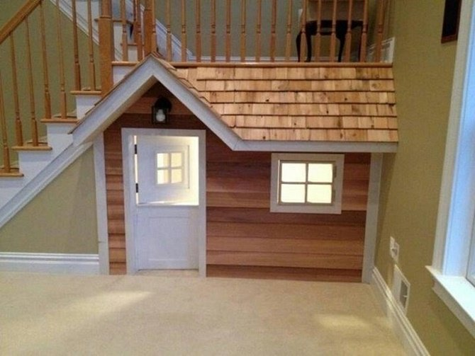 Under the Stairs Playhouse-20 Build-In Ideas to Use Space Under Stairs