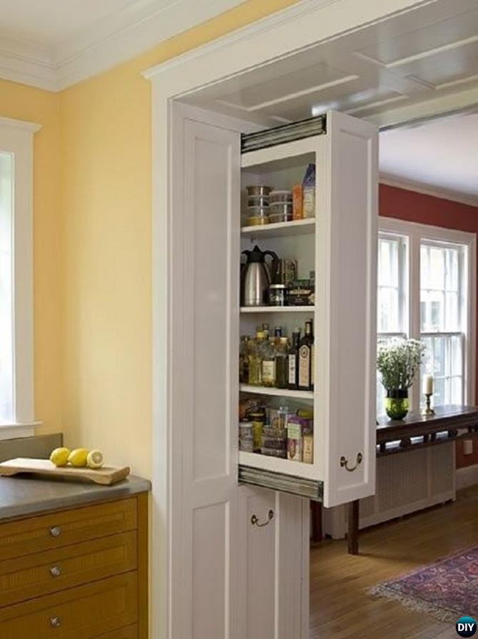 DIY Vertical Wall Kitchen Storage-16 Brilliant Kitchen Storage Solutions You Can Make Yourself