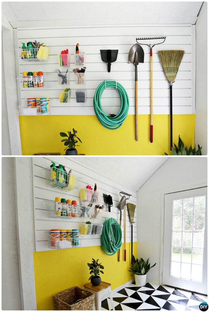 Wall Panel Organizer-Garage Organization and Storage DIY Ideas ...
