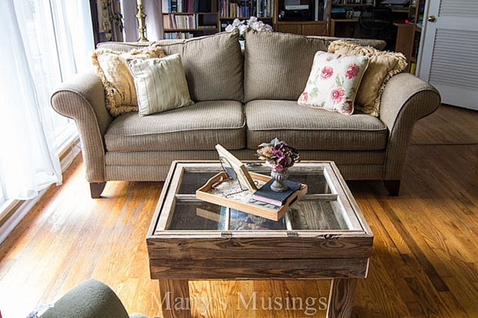 DIYHowto 15 DIY Coffee Table Ideas And Free Plans With Instructions-Window Display Coffee Table