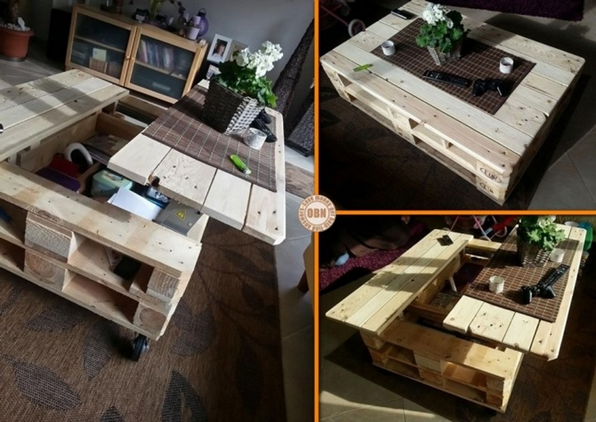 DIYHowto 15 DIY Coffee Table Ideas And Free Plans With Instructions-Lift Top Pallet Coffee Table