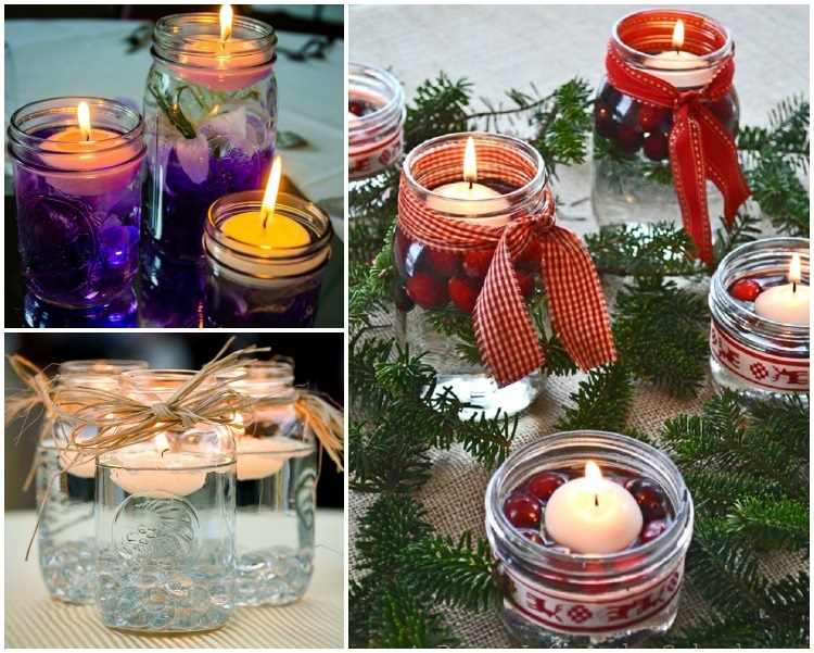 20 Unique Mason Jar DIY Crafts and Projects You'll Love to Try-Mason Jar Floating Centerpiece