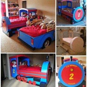 DIY Train Bed Instructions Free Plan