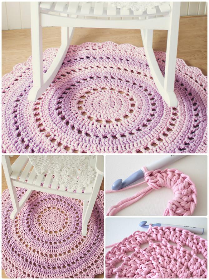 Mandala Floor Rug Crochet Free Pattern - #Crochet Area #Rug Ideas Free Patterns
