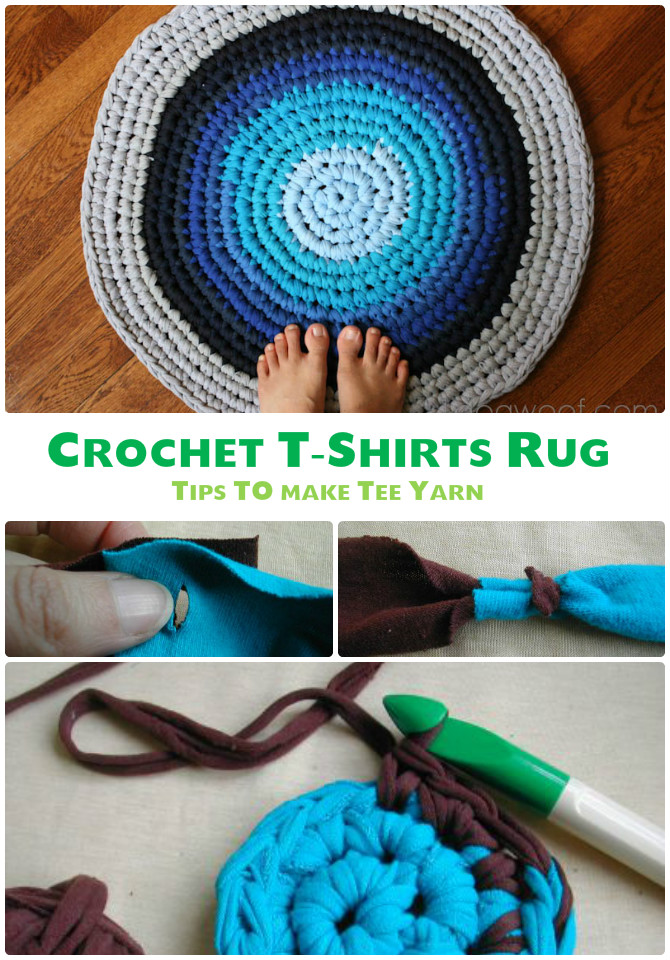 T-shirt Rug Crochet Free Pattern - #Crochet Area #Rug Ideas Free Patterns