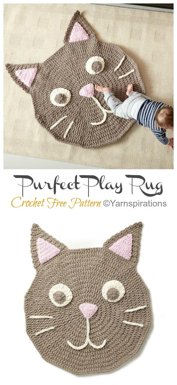 Purfect Play Rug Crochet Free Pattern - #Crochet Area #Rug Ideas Free Patterns