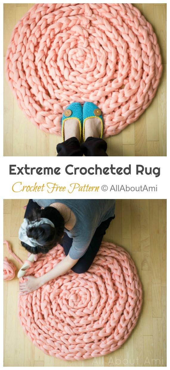 Extreme Crocheted Rug Crochet Free Pattern - #Crochet Area #Rug Ideas Free Patterns